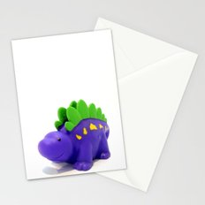 Happy Purple Dinosaur Stationery Cards