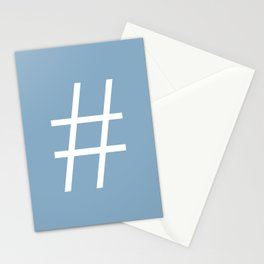 number sign on placid blue color background Stationery Cards