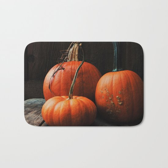 Three Pumpkins Bath Mat
