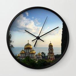 Monastery of St. Apostle Simon the Zealot in New Athos. ( Anakopia ) Wall Clock