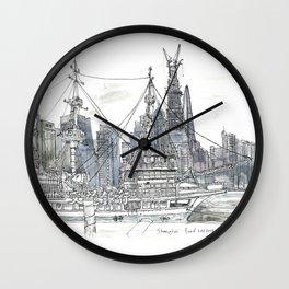 Shai. China. Tour ship on Huagpu iver Wall Clock