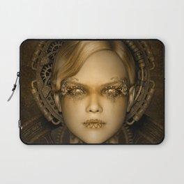 Steampunk female machine Laptop Sleeve