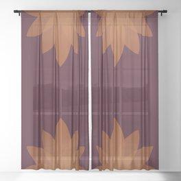 Minimal Lotus Flower XII Sheer Curtain