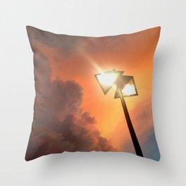 San Francisco Sky at Dusk Throw Pillow