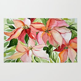 Pink Poinsettias Rug