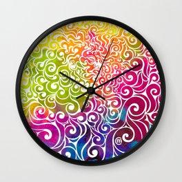 Swirly Portrait Wall Clock