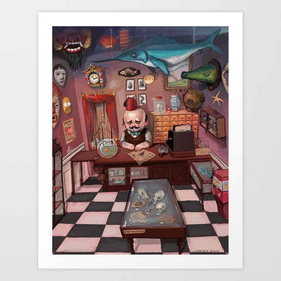 Mr. Chudderley's Shop of Curiosities Art Print
