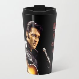 Elvis 1968 Comeback Special Advertising Print Travel Mug
