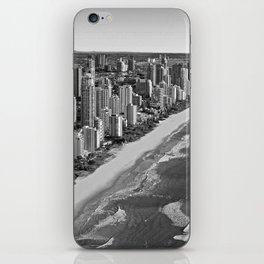 Black and White Gold Coast - Australia iPhone Skin