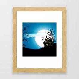 Halloween House Framed Art Print