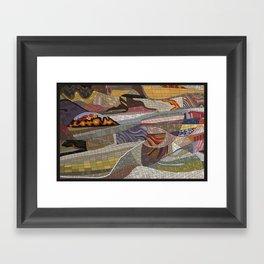 The Land Mosaic Framed Art Print