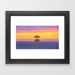 dreamy sunset Framed Art Print