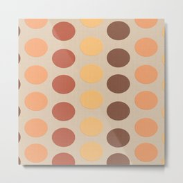 Autumn Polka Dots Metal Print