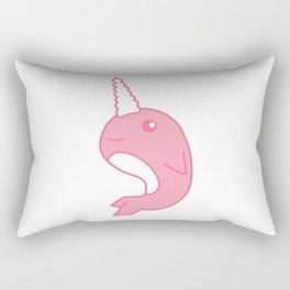 Pink Narwhal T-Shirt Rectangular Pillow