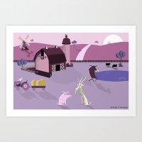 farm Art Prints featuring Farm by Andrew Formosa