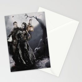 Halloween Outlaw Queen Stationery Cards