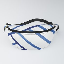 Watercolor lines pattern | Navy blue Fanny Pack