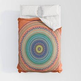 Bright Orange Mandala Comforters