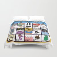 coachella Duvet Covers featuring Coachella BINGO Board by Highly Anticipated