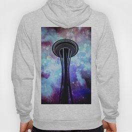 Space Needle - Seattle Stars Clouds Fog Hoody