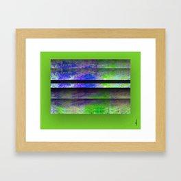 Green Color Blinds Framed Art Print
