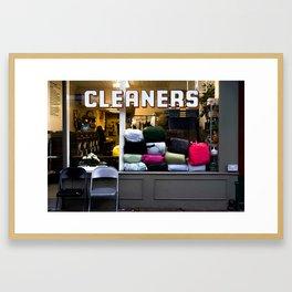 west village cleaners Framed Art Print