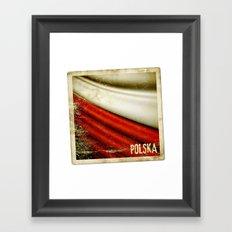 STICKER OF POLAND flag Framed Art Print