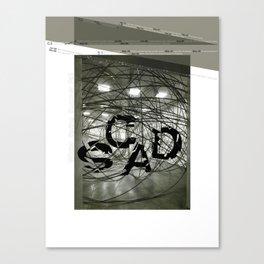 Fragmentation Poster Canvas Print