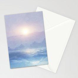 Pastel landscape & sunset Stationery Cards