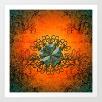 decorative Art Prints featuring Decorative design by nicky2342