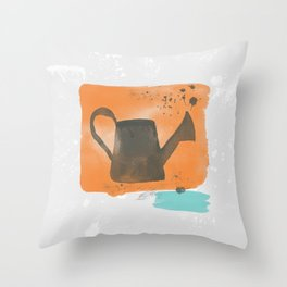 water makes earth grow orange Throw Pillow