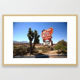 Route 66 - Hill Top Motel 2012 Framed Art Print