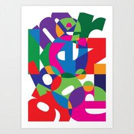 Letter land Art Print