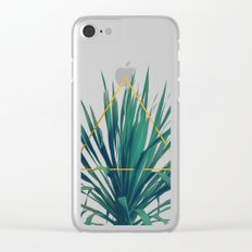 Geometric Fountain Clear iPhone Case
