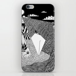 Bird Crossing over the full moon iPhone Skin