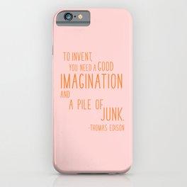 Fun Quotes for Inventors iPhone Case