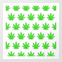 Marijuana Leaves Art Print