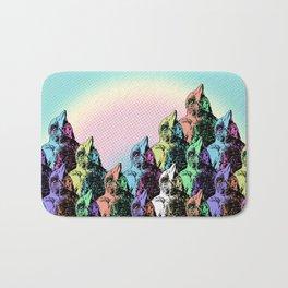 Contra Mundum Rainbow Magpies! Bath Mat