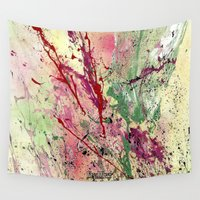 champagne Wall Tapestries featuring Champagne by Vinn Wong - Original Abstract Art