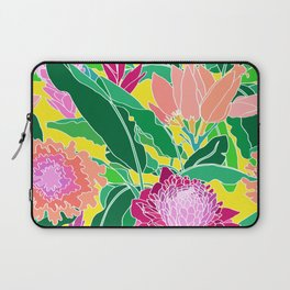 Bird of Paradise + Ginger Tropical Floral in Canary Yellow Laptop Sleeve