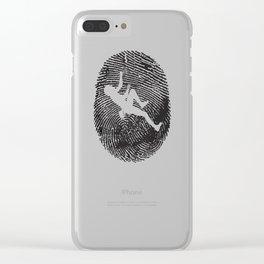 Climbing Bouldering Sport T-Shirt Gift Rock Clear iPhone Case