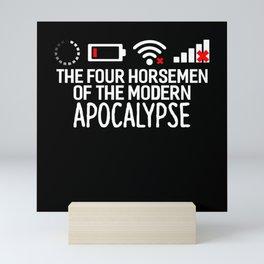 The Four Horsemen of the Modern Apocalypse Funny Mini Art Print