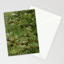 Green Camo Stationery Cards