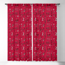 English pattern Blackout Curtain