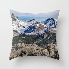 El Chalten Landcape Andes Patagonian Mountains, Agentina Throw Pillow
