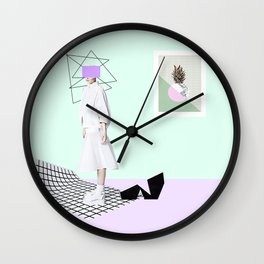 geometric view Wall Clock