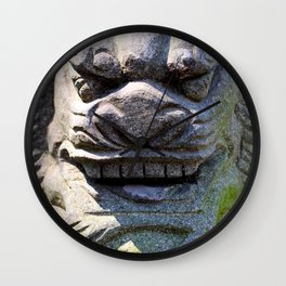 Chinese Lion Keeper Wall Clock