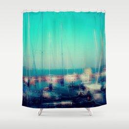 Sailing Harbor at Lake Balaton Shower Curtain