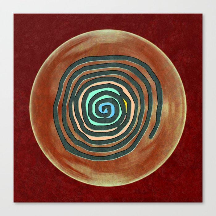 Tribal Maps - Magical Mazes #02 Canvas Print