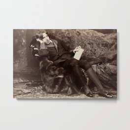 Oscar Wilde Lounging Portrait Metal Print